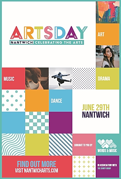 poster for nantwich arts day