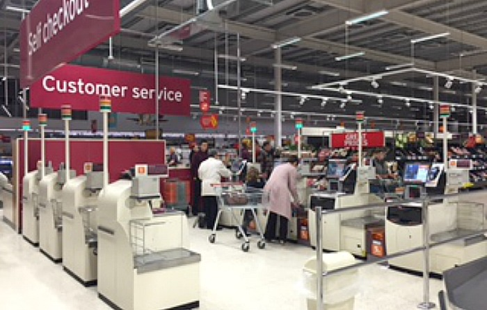 power out at Sainsbury's in Nantwich