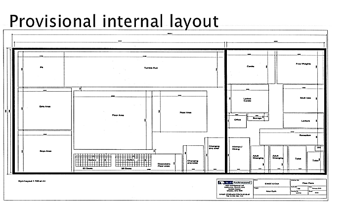provisional layout of new centre