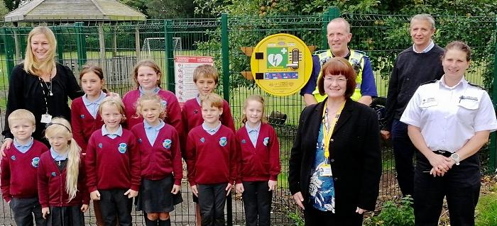 bridgemere pupils and defibrillator