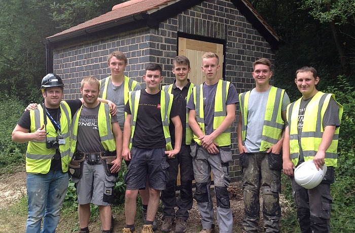 reaseheath students revamp canal side building for SUMBA 6