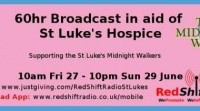 Redshift Radio begins non-stop 60-hour broadcast for St Luke's Hospice