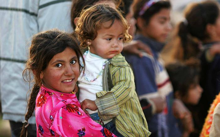 Syrian refugees in Syria, pic under creative commons by Stobkcuf