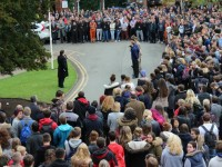 Hundreds of Nantwich students pay Armistice Day respects at Reaseheath