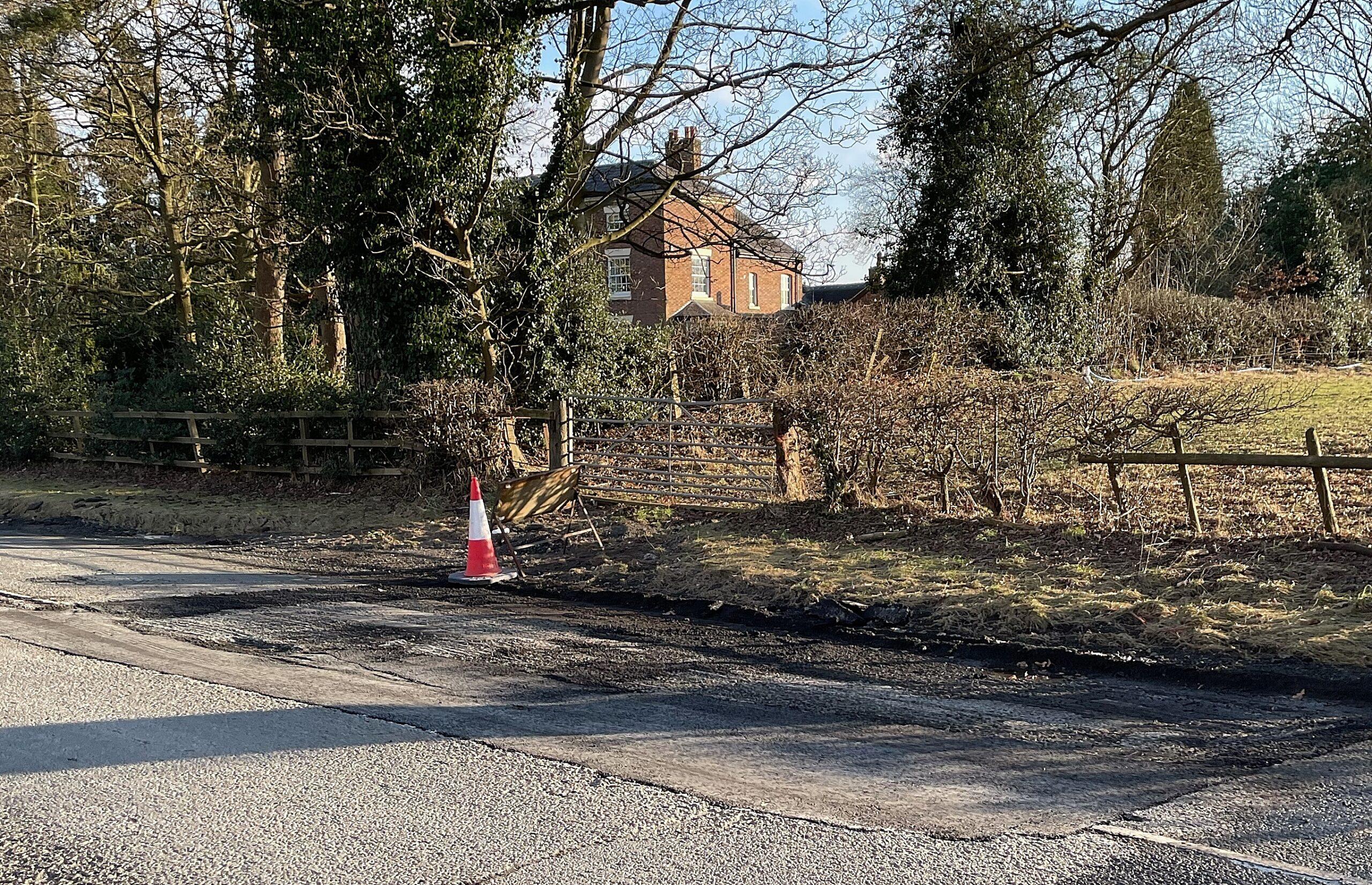repair work A51 Newcastle Road
