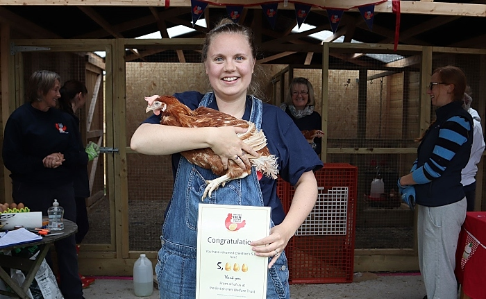 Rose Higgins - rescue hens in cheshire