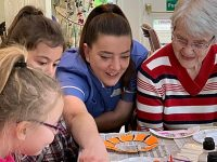 Children attend Richmond Village Nantwich as part of generations project