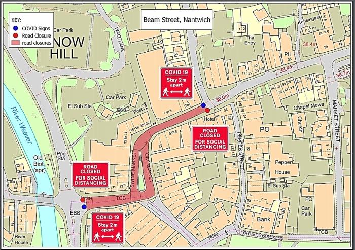 road closure nantwich - social distancing (1)