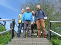 Volunteers spruce up Nantwich Aqueduct steps and rails