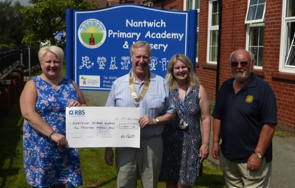 rotary funds nantwich primary academy visit