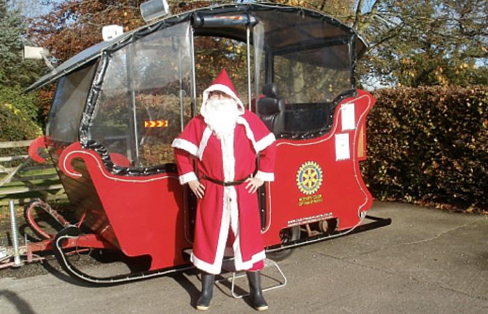 rotary santa sleigh