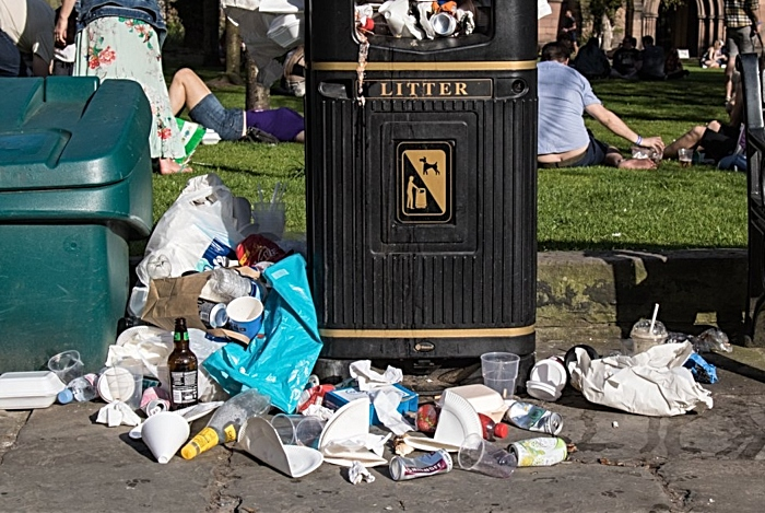 rubbish during jazz festival - pic by @csdriver