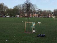 Rubbish left on Brookfield Park
