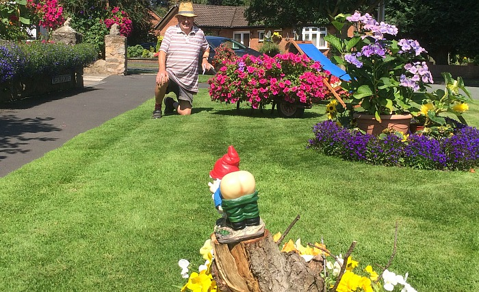 rumpus in wistaston caused by laurence perry's gnomes