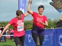 Reaseheath College turns pink at Cancer Research UK Pretty Muddy event