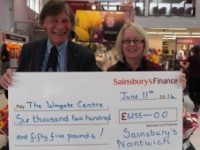 Sainsbury's donates more than £7,000 to Nantwich's Wingate Children's Centre