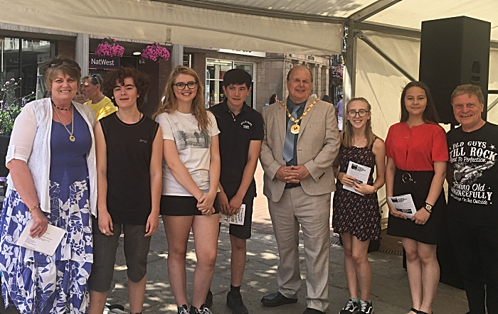 schoolfest with mayor david marren