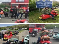 Nantwich teacher's vintage scooter ride raises St Luke's Hospice funds