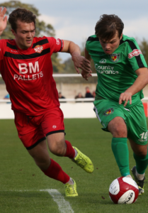 sean cooke for nantwich town v kettering, FA Cup