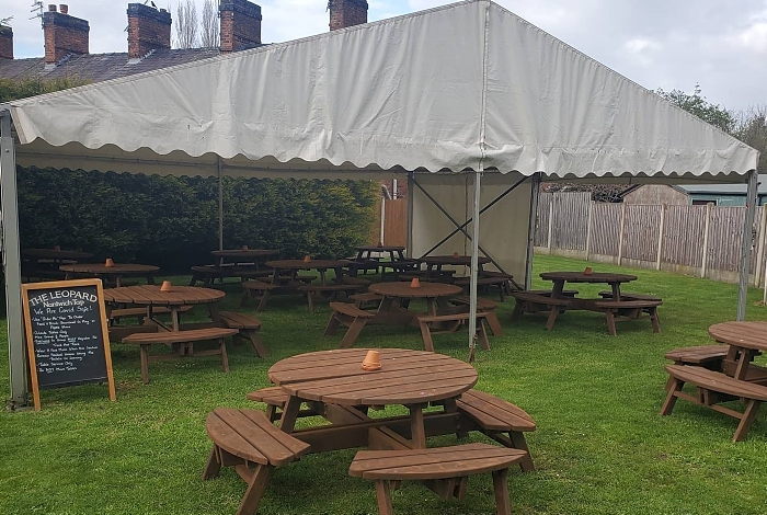 second marquee at the leopard pub beer garden