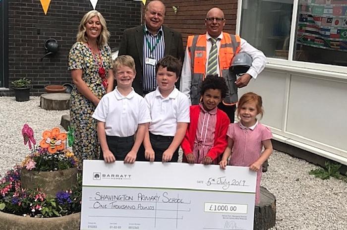 shavington school donation from Barratts