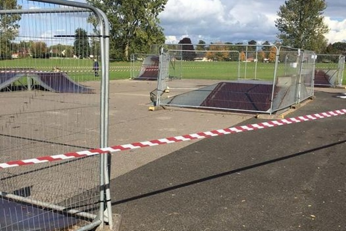 skate and cycle park in barony park grounds