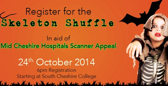 skeleton shuffle poster for mri scanner appeal event