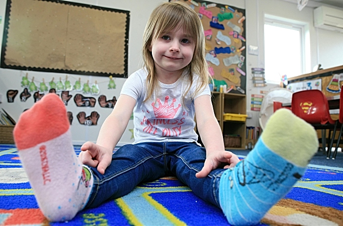 socks fundraiser at little crickets pre-school