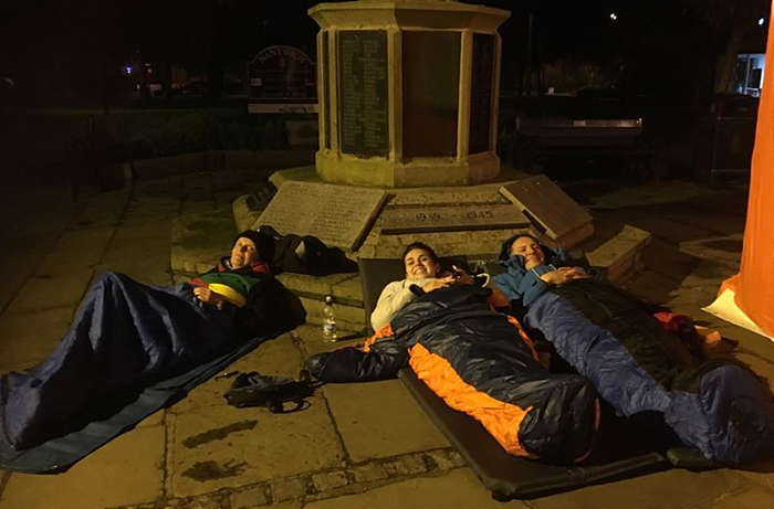 some of big sleep out volunteers