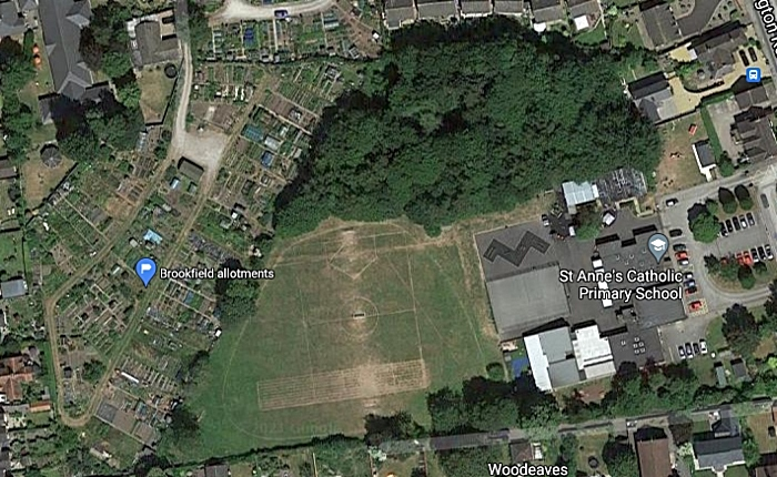 st annes and allotments - pic by google maps