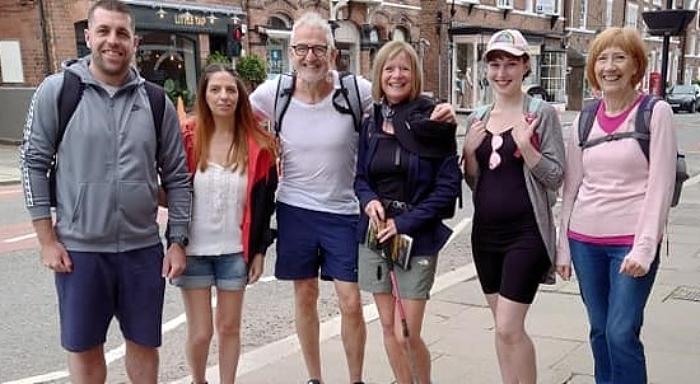 steven burgin charity trek sandstone trail