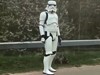 Stormtrooper raises much-needed smiles in Nantwich