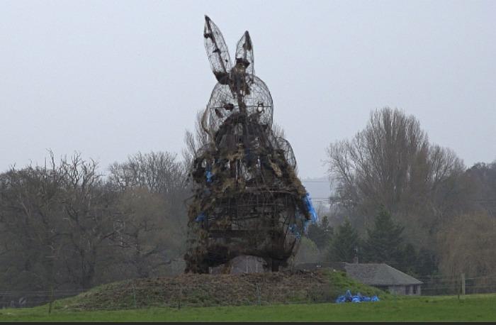 Snugburys straw statue of Peter Rabbit in Nantwich