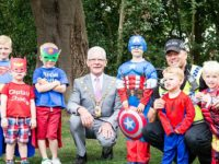 Superheroes enjoy their day out at Dorfold Hall in Nantwich