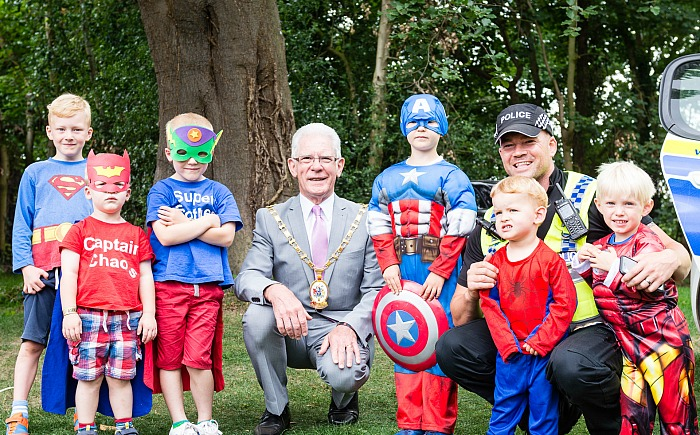superheroes day at dorfold park in nantwich 2