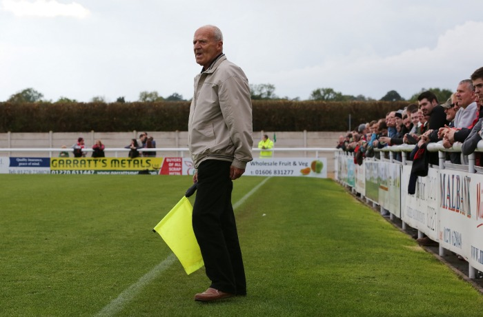 supporter takes over as linesman at Nantwich Town