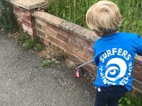 Young Sustainable Nantwich volunteer collects plastic rubbish