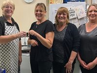 Tea Chest Cafe Sue retires from Nantwich Market