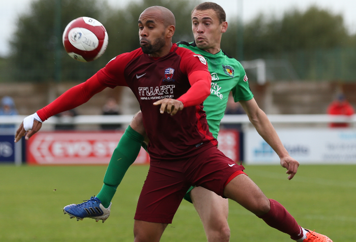 theo stair for nantwich v nuneaton