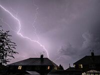 Thunderstorms create spectacular lightning show above Nantwich