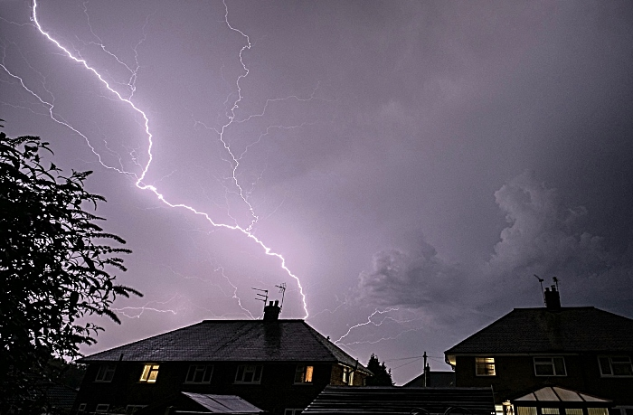 thunder and lightning in Nantwich August 2020
