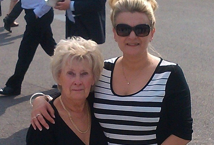 tish cliffe with mum Beryl Hilton, tribute