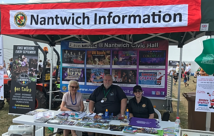 town counillor Butterill and staff at Nantwich Show