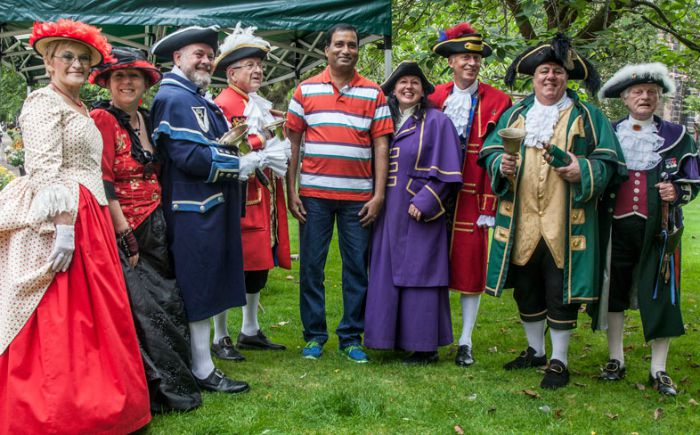 town criers gather in Nantwich for annual competition