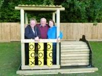 Nantwich mum buys a train for Wingate Children's Centre