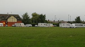 travellers on barony park September 2019