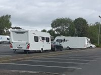 Travellers served with Section 77 on Barony Park in Nantwich