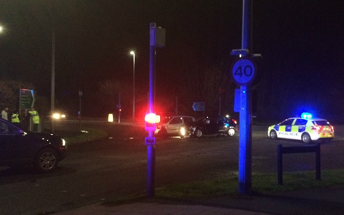 two car accident London Road and Peter De Stapleigh Way, Nantwich
