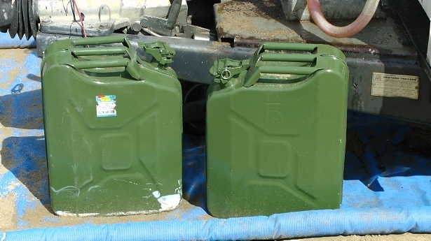 two petrol jerry cans - by alex borland, public domain pictures licence