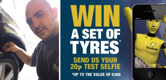 tyre selfie comp by Crewe Tyres and Exhausts